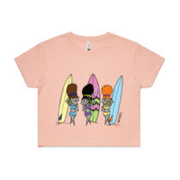 'The Codette Surfers' Crop Tee Thumbnail